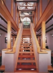 Staircase, modern, wood, CNC, oak