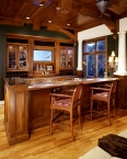 Bar cabinetry, wood, CNC