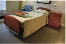 Hospital bed, side cabinet, CNC