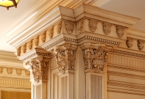 Traditional kitchen, columns, detail, millwork, CNC