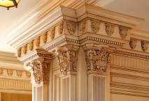 Traditional kitchen, columns, detail, millwork, CNC