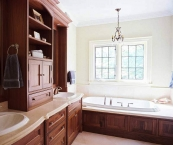 Bathroom cabinetry, CNC, wood