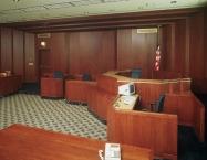 Modern courtroom, millwork, CNC